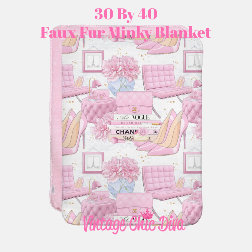 Pink Glam4 Blanket-