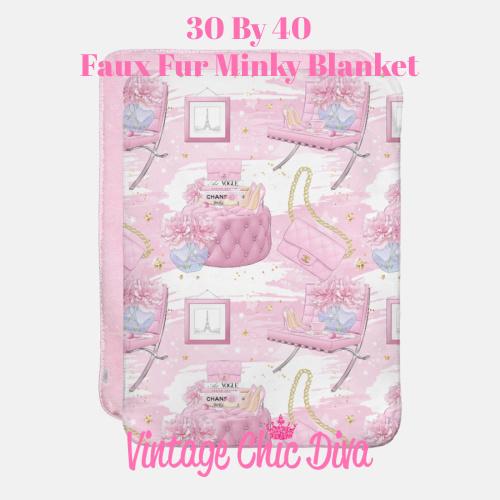 Pink Glam7 Blanket-