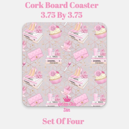 Pink Glam9 Coaster-