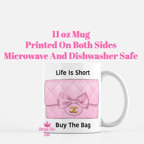 Pink Glam Chanel Bag20 Coffee Mug-