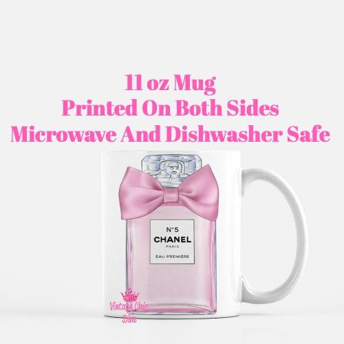Pink Glam Chanel Perfume Bow1 Coffee Mug-