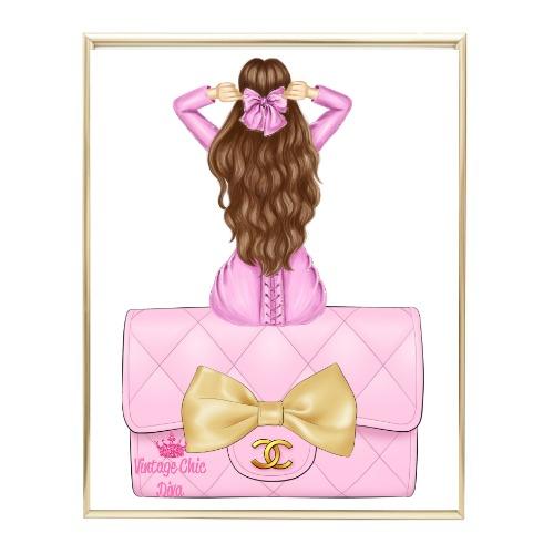 Pink Glam Fashion Girl Set 21 Wh Bg-