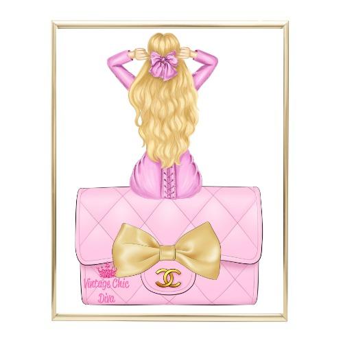 Pink Glam Fashion Girl Set 23 Wh Bg-
