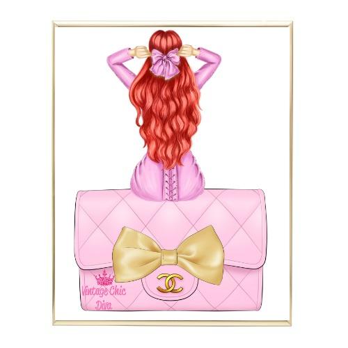 Pink Glam Fashion Girl Set 24 Wh Bg-