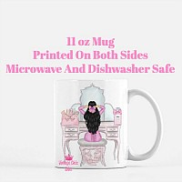 Pink Glam Fashion Girl Vanity1 Coffee Mug-