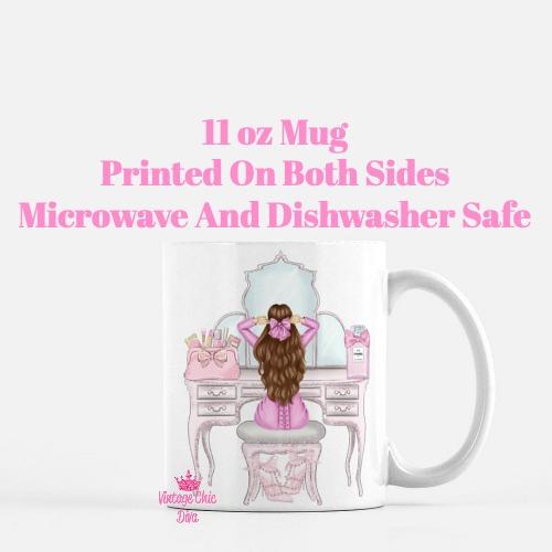Pink Glam Fashion Girl Vanity2 Coffee Mug-