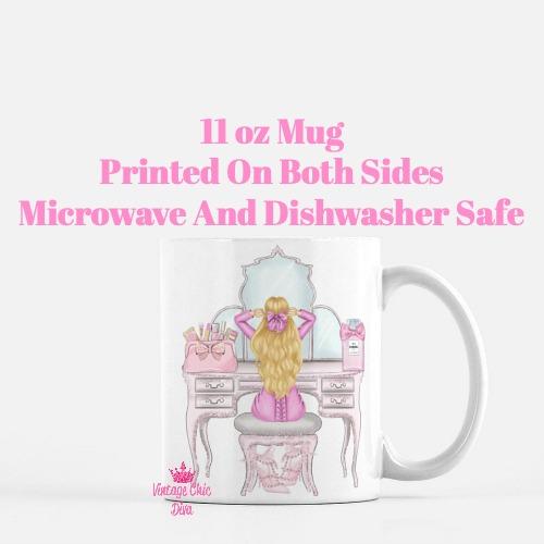 Pink Glam Fashion Girl Vanity3 Coffee Mug-