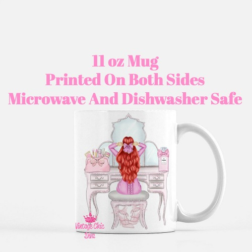 Pink Glam Fashion Girl Vanity4 Coffee Mug-
