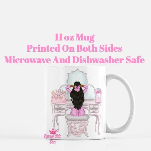 Pink Glam Fashion Girl Vanity5 Coffee Mug-