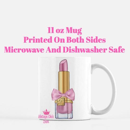 Pink Glam Lipstick1 Coffee Mug-
