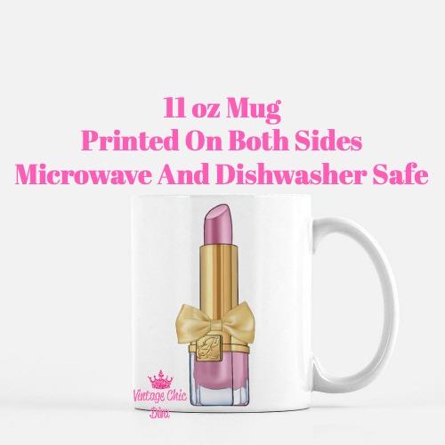 Pink Glam Lipstick2 Coffee Mug-