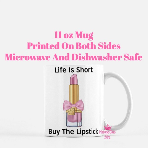 Pink Glam Lipstick3 Coffee Mug-