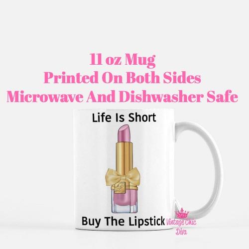 Pink Glam Lipstick4 Coffee Mug-