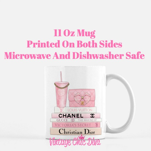 Pink Love Chanel Starbuck Set10 Coffee Mug-