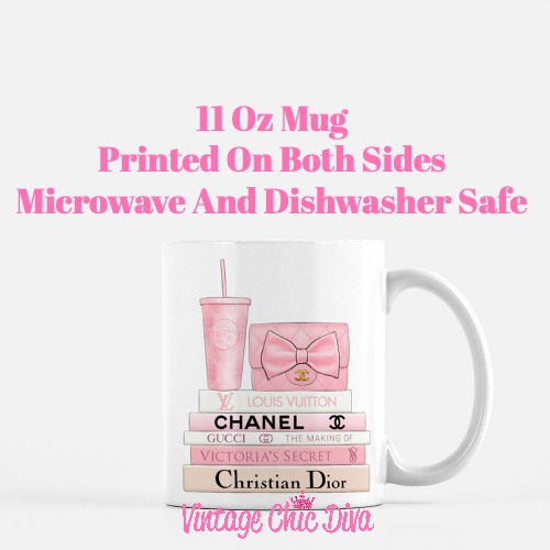 Pink Love Chanel Starbuck Set11 Coffee Mug-