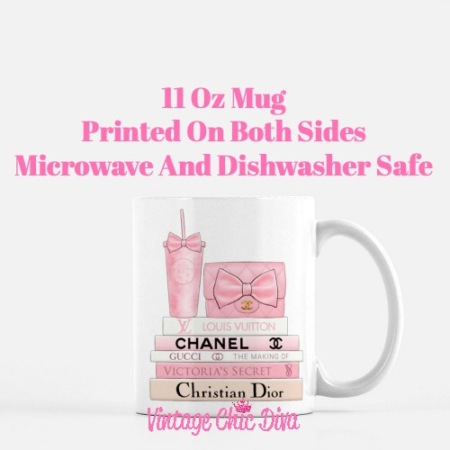 Pink Love Chanel Starbuck Set12 Coffee Mug-