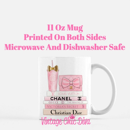 Pink Love Chanel Starbuck Set14 Coffee Mug-