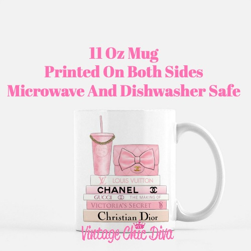 Pink Love Chanel Starbuck Set15 Coffee Mug-