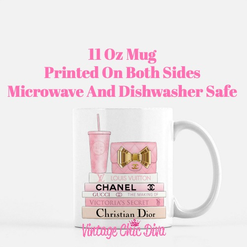 Pink Love Chanel Starbuck Set16 Coffee Mug-