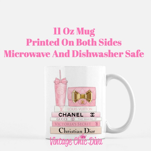 Pink Love Chanel Starbuck Set17 Coffee Mug-