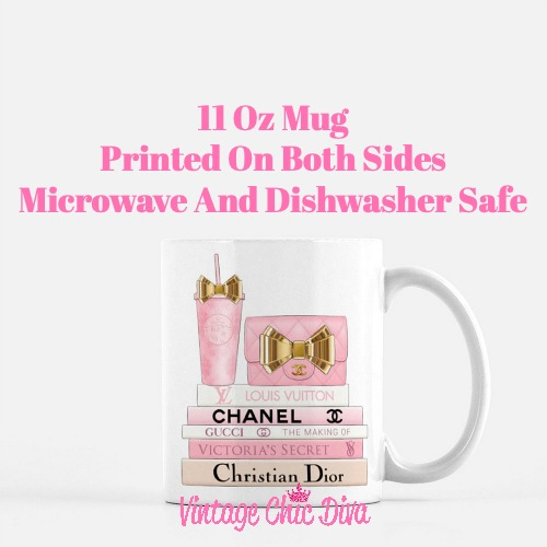 Pink Love Chanel Starbuck Set19 Coffee Mug-