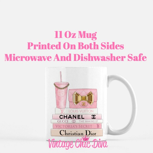 Pink Love Chanel Starbuck Set20 Coffee Mug-