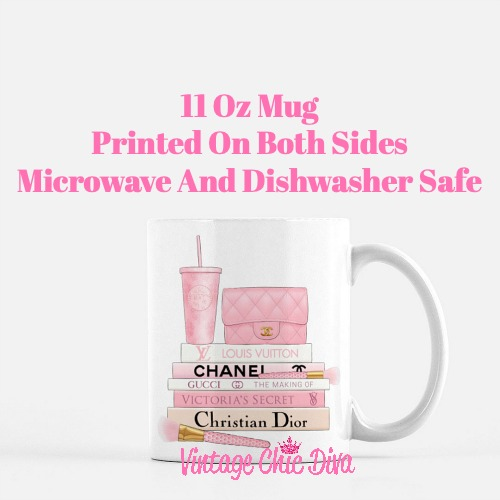 Pink Love Chanel Starbuck Set21 Coffee Mug-