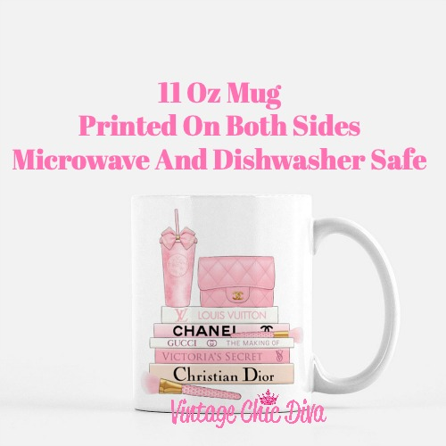 Pink Love Chanel Starbuck Set23 Coffee Mug-