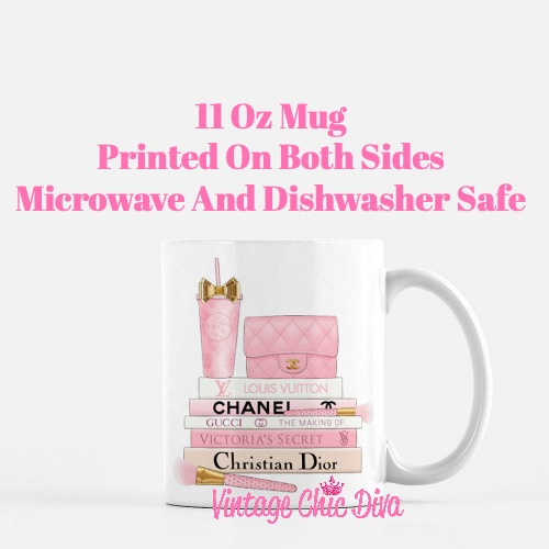 Pink Love Chanel Starbuck Set24 Coffee Mug-