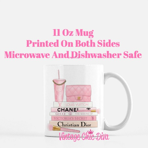 Pink Love Chanel Starbuck Set25 Coffee Mug-