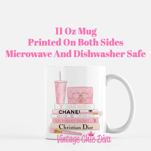 Pink Love Chanel Starbuck Set26 Coffee Mug-