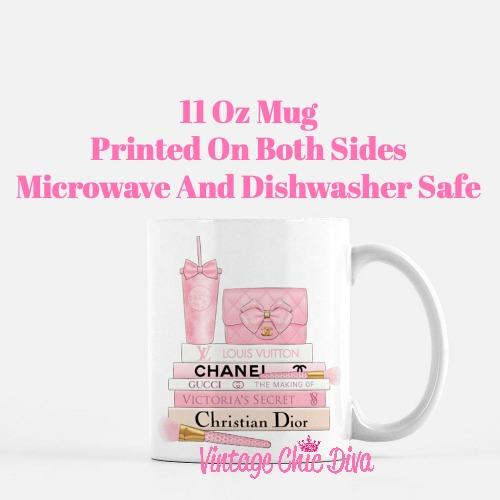 Pink Love Chanel Starbuck Set27 Coffee Mug-