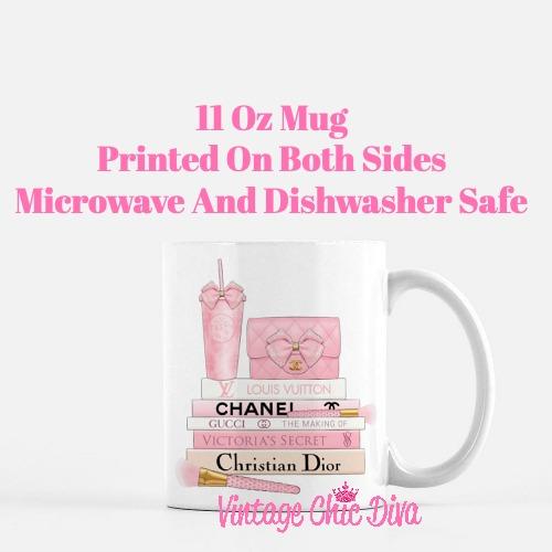 Pink Love Chanel Starbuck Set28 Coffee Mug-