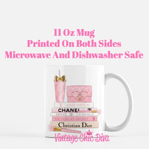 Pink Love Chanel Starbuck Set29 Coffee Mug-