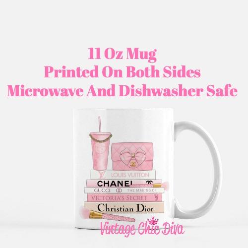Pink Love Chanel Starbuck Set30 Coffee Mug-