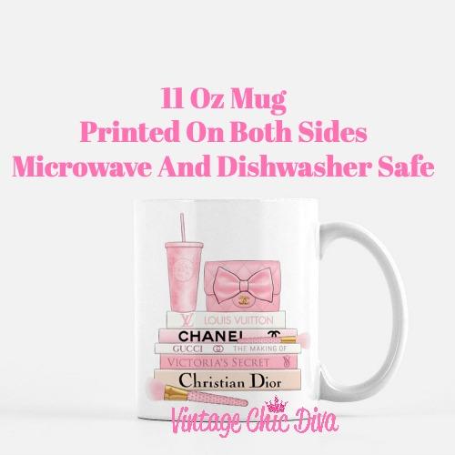 Pink Love Chanel Starbuck Set31 Coffee Mug-