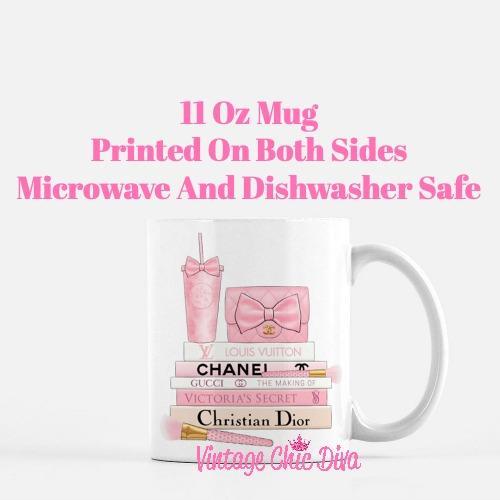 Pink Love Chanel Starbuck Set32 Coffee Mug-