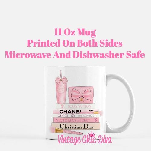 Pink Love Chanel Starbuck Set33 Coffee Mug-