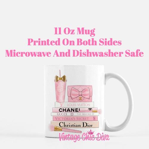 Pink Love Chanel Starbuck Set34 Coffee Mug-