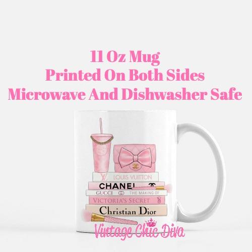 Pink Love Chanel Starbuck Set35 Coffee Mug-