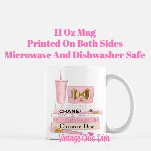 Pink Love Chanel Starbuck Set36 Coffee Mug-