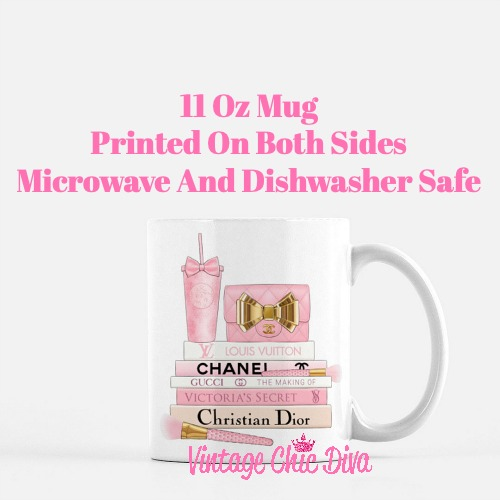 Pink Love Chanel Starbuck Set37 Coffee Mug-