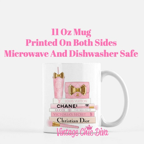 Pink Love Chanel Starbuck Set39 Coffee Mug-