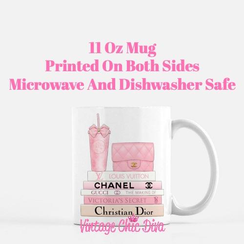 Pink Love Chanel Starbuck Set3 Coffee Mug-