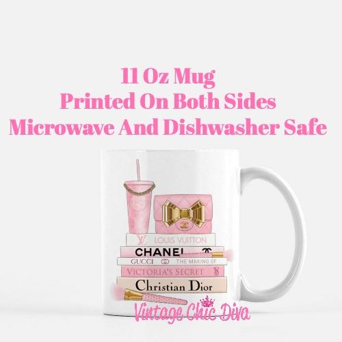 Pink Love Chanel Starbuck Set40 Coffee Mug-