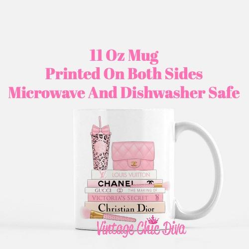 Pink Love Chanel Starbuck Set42 Coffee Mug-
