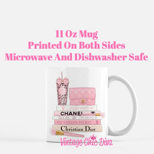 Pink Love Chanel Starbuck Set43 Coffee Mug-