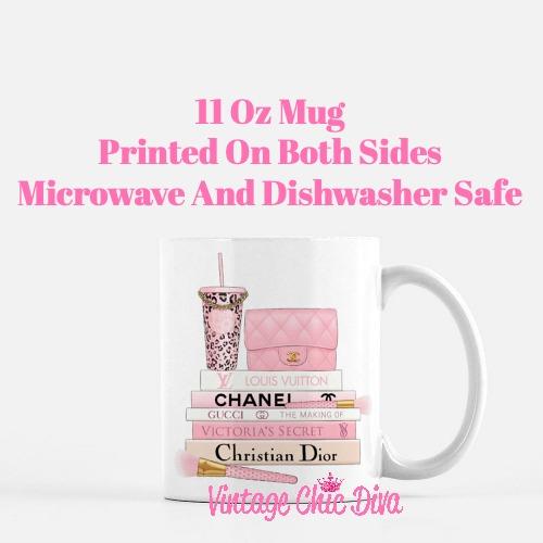 Pink Love Chanel Starbuck Set45 Coffee Mug-