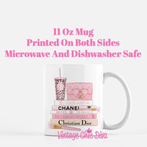 Pink Love Chanel Starbuck Set46 Coffee Mug-