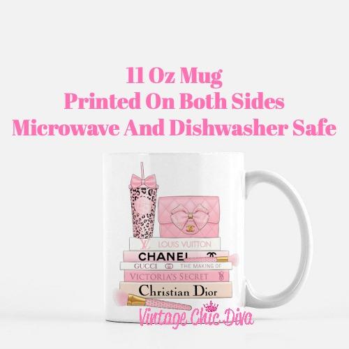 Pink Love Chanel Starbuck Set47 Coffee Mug-